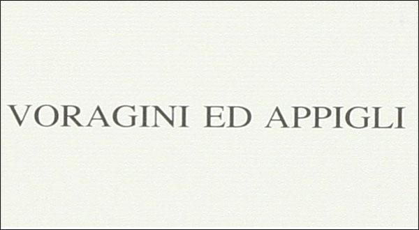 Voragini ed appigli – Nicola Romano